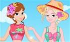 Anna ve Elsa Tatilde