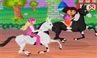 Barbie ve Dora At Yarışında