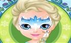 Bebek Elsa Yüz Boyama