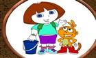 Dora ve Sevimli Dostları Boyama