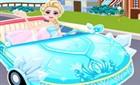 Elsa Araba Sürüyor