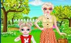 Elsa Kızıyla Piknikte