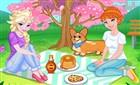 Elsa ve Anna Piknikte