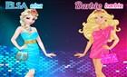 Elsa ve Barbie Moda Yarışması