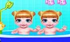 İkiz Bebek Banyo Yaptırma