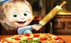 Maşa ve Koca Ayı Pizza Yapma