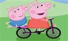 Peppa Pig Bisiklet Sürüyor