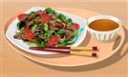 Tayland Usulü Biftek Salatası